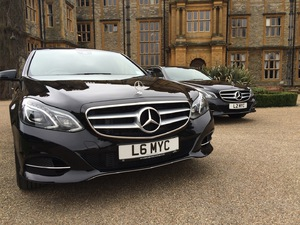 brand new Mercedes Benz chauffeur car